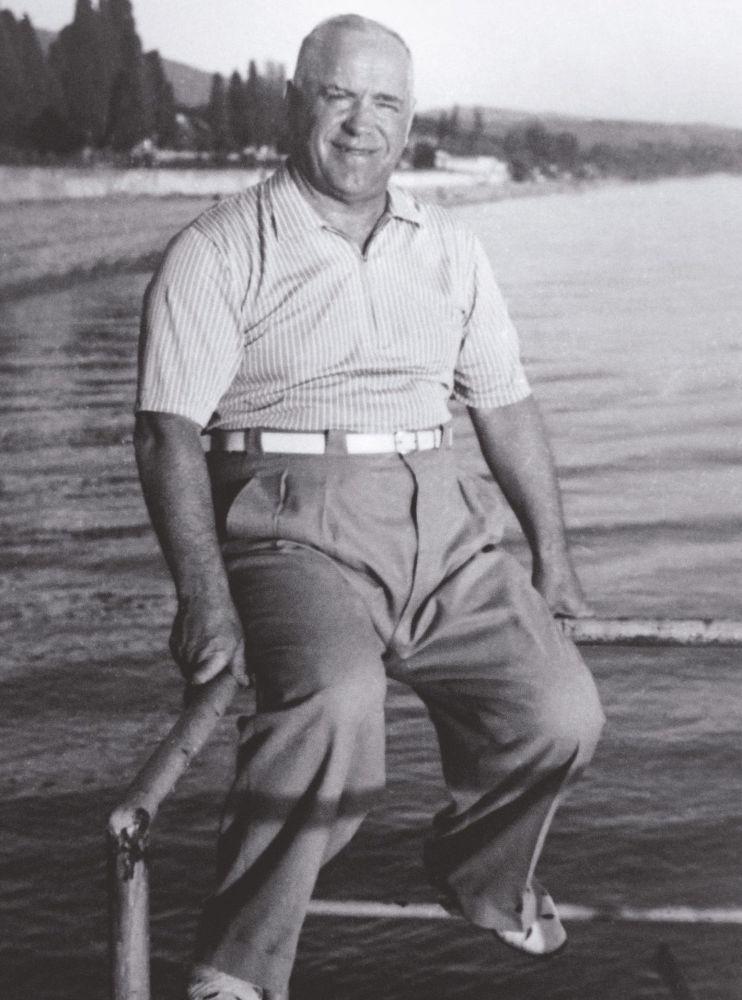 朱可夫元帥夏天在索契度假,50年代
