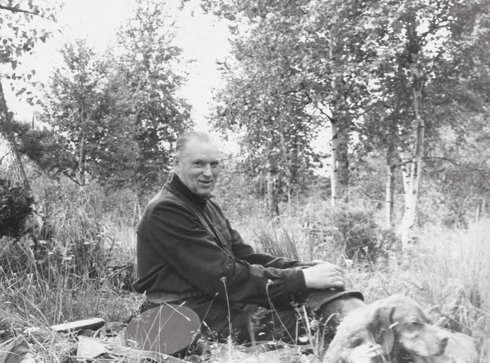 羅科索夫斯基元帥在打獵。照片攝於60年代