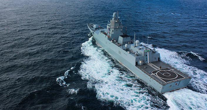 俄羅斯護衛艦「戈爾什科夫海軍上將」現身南海
