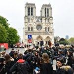 大火后的巴黎圣母院