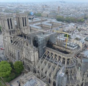 火灾后的巴黎圣母院