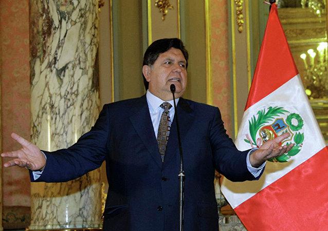秘魯前總統加西亞涉腐被捕期間企圖開槍自殺
