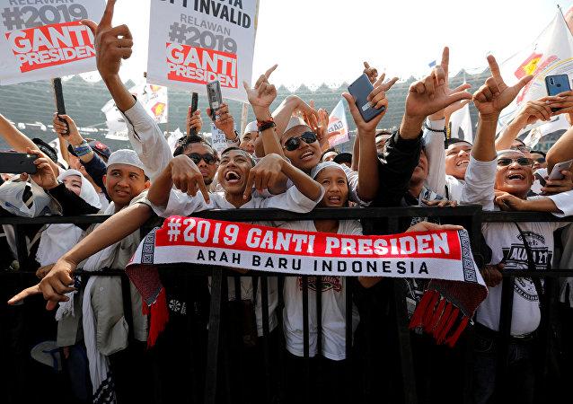印度尼西亞反對派準備在總統大選後舉行大規模抗議活動