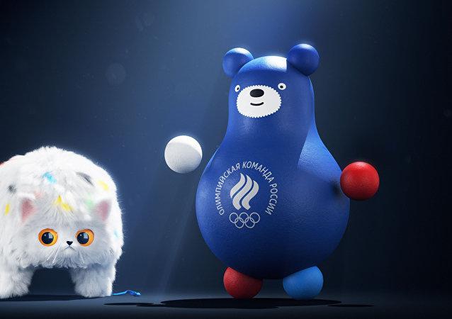 帽子貓和不倒翁熊成為俄羅斯奧運隊吉祥物