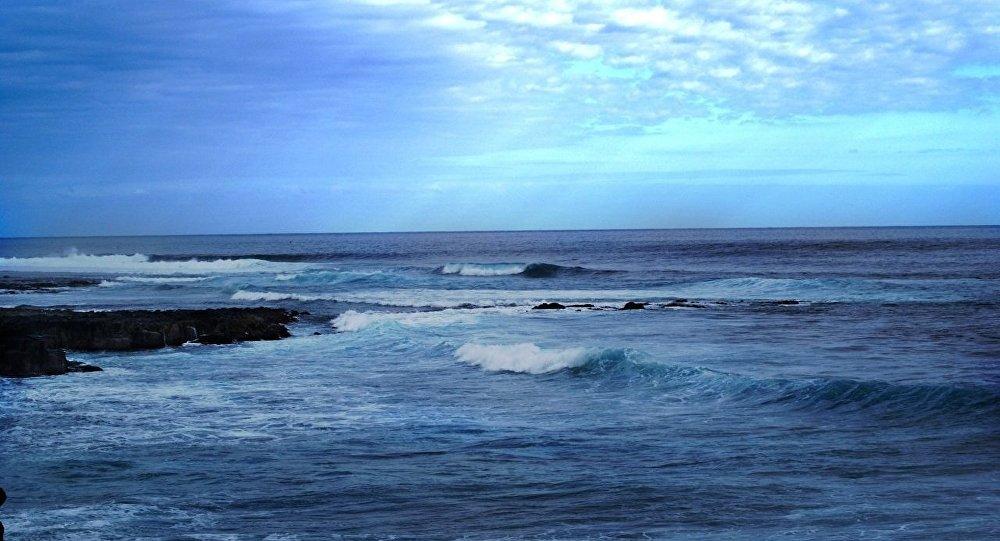 斯里兰卡海军对两名被海水卷走的俄罗斯游客施以援手
