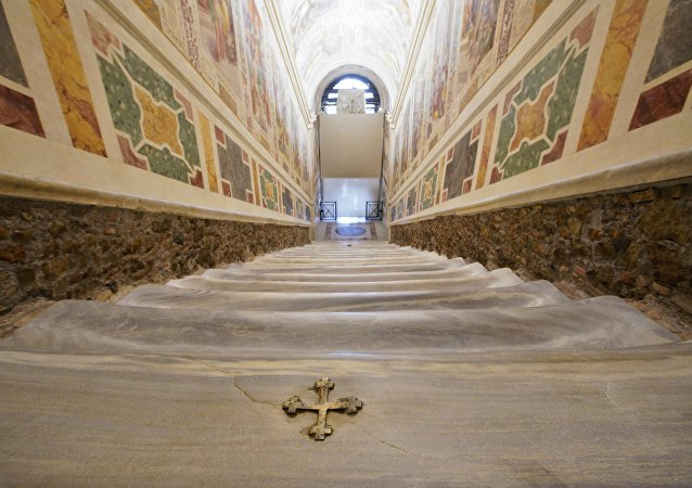 罗马圣阶对游客开放
