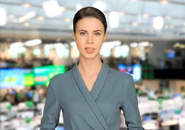 """俄储蓄银行利用数位分身技术打造""""电视女主播"""""""