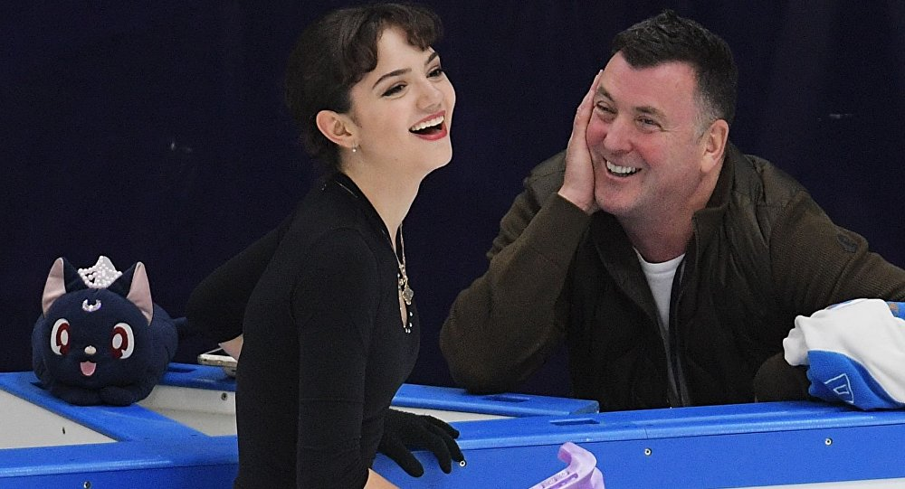 俄罗斯花样滑冰运动员叶夫根尼娅•梅德韦杰娃