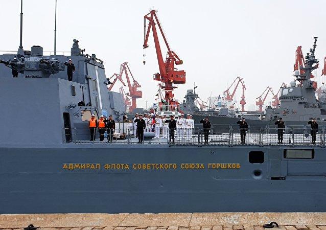 庆祝中国海军成立70周年四国军乐队登台青岛
