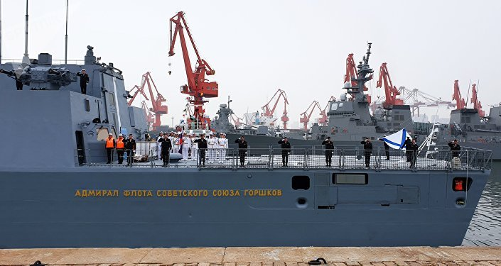 慶祝中國海軍成立70週年四國軍樂隊登台青島