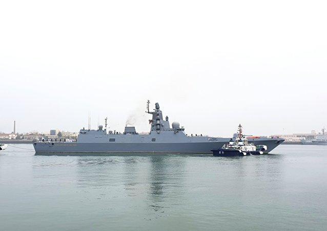 俄羅斯海軍在青島(資料圖片)