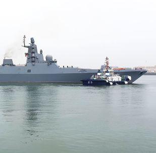 俄海軍艦艇抵達中國