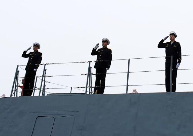 """俄中""""海上联合-2019""""演习的海上阶段在青岛启动"""