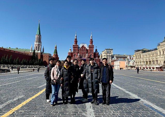 中戏师生们游览莫斯科著名景点红场