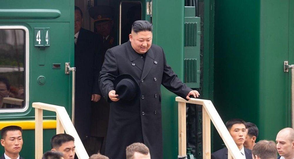 金正恩抵達俄羅斯 (視頻)