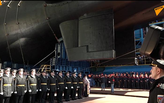 """""""别尔哥罗德""""核潜艇下水"""