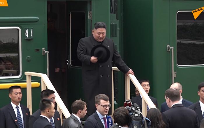 金正恩抵达俄罗斯
