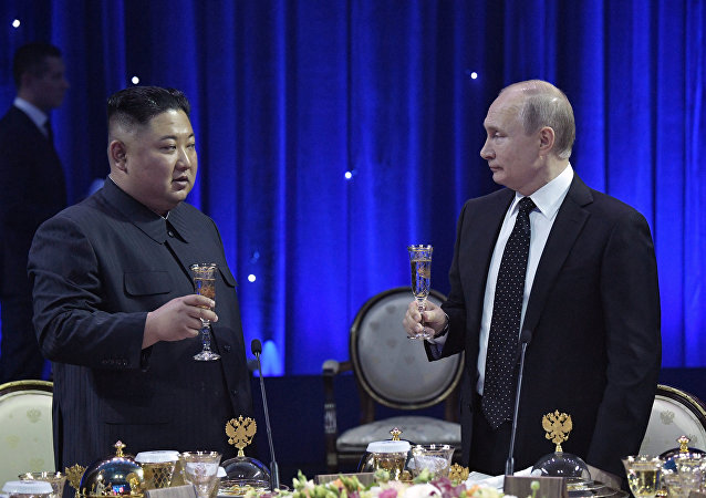 Russian President Vladimir Putin meets with North Korea's leader Kim Jong Un in Vladivostok