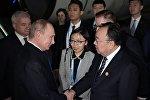 俄罗斯总统普京抵达中国北京