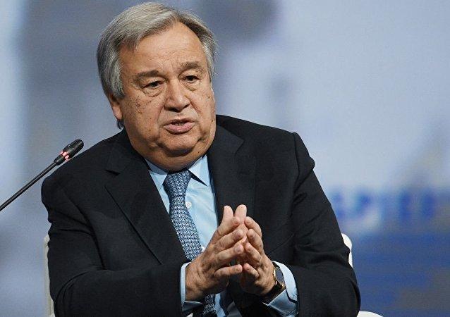 联合国秘书长呼吁尽快缓和叙利亚东北部局势