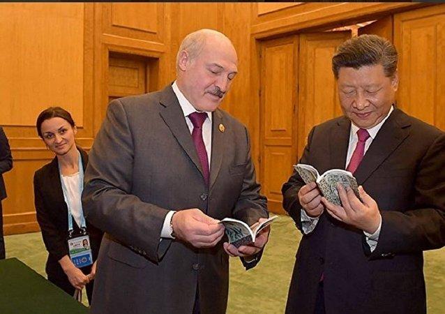 白俄罗斯总统卢卡申科会见习近平