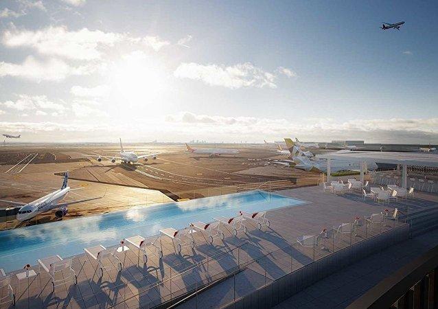 紐約肯尼迪機場新開游泳池