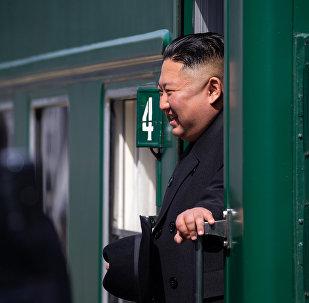 金正恩專列到達俄朝邊境地區