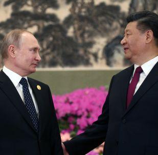 俄罗斯总统普京(左)和中国国家主席习近平