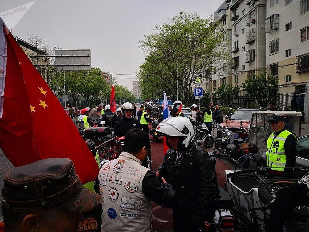 """""""友谊之路""""俄中摩托车骑行活动"""