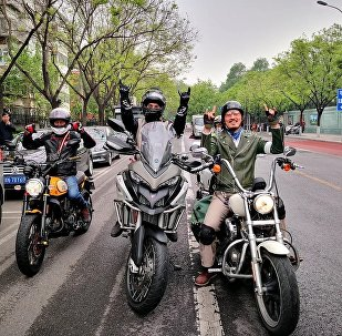 """""""友谊之路""""俄中摩托车骑行活动在北京启幕"""