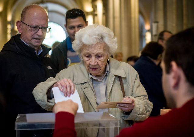 在西班牙議會選舉時