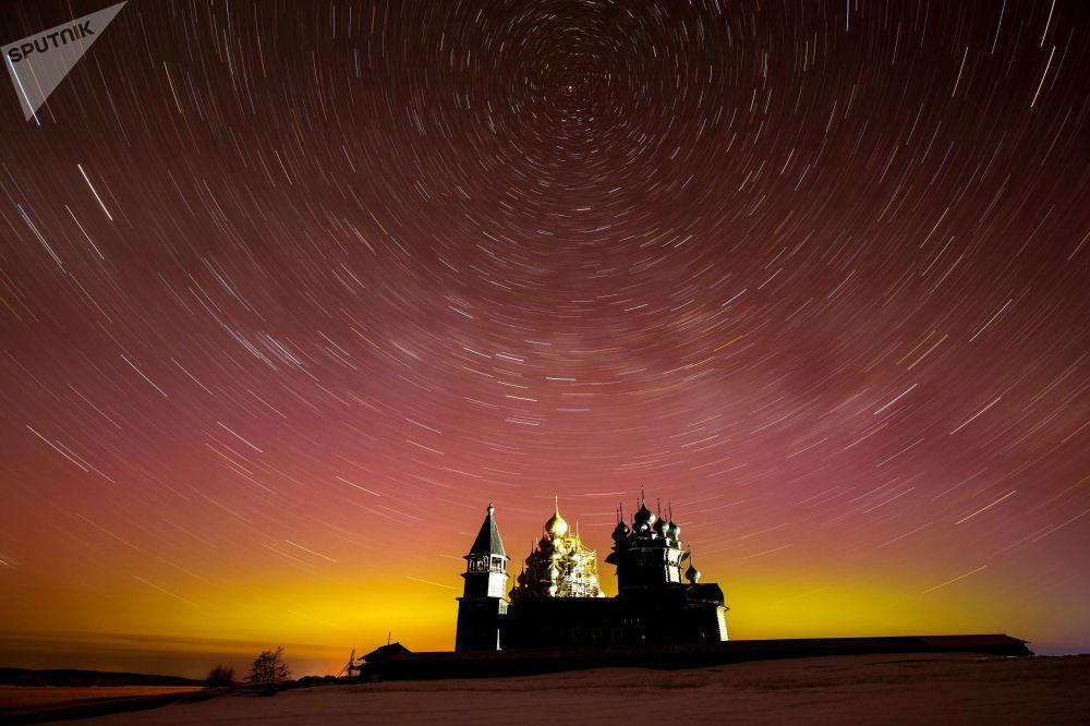 """俄罗斯卡累利阿共和国""""基日""""自然保护区博物馆。"""