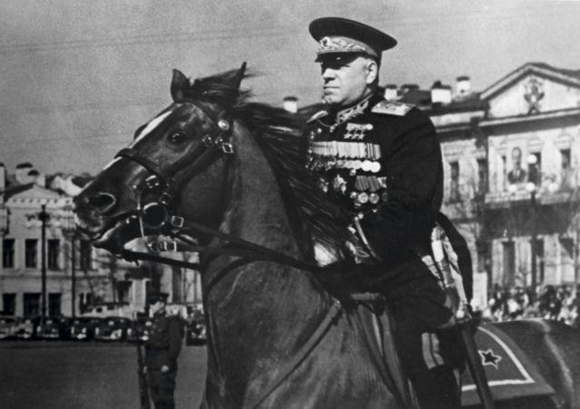 """苏联元帅、4次""""苏联英雄""""称号获得者格奥尔吉·康斯坦丁诺维奇·朱可夫"""