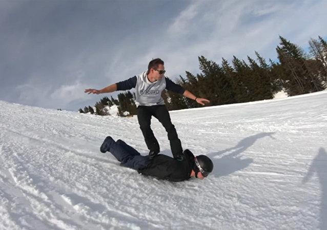 滑滑雪板的新风格