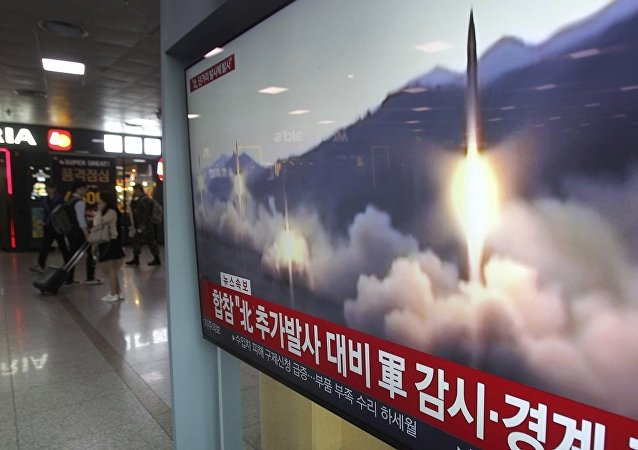 朝鲜的导弹训练发射