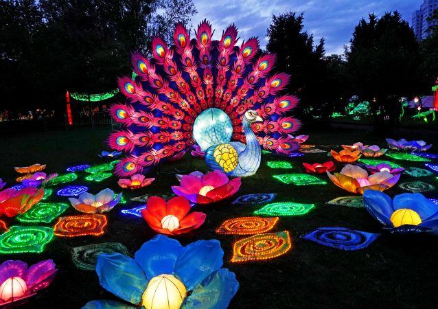 彩燈節由中國元宵佳節懸掛燈籠的傳統風俗衍化而來
