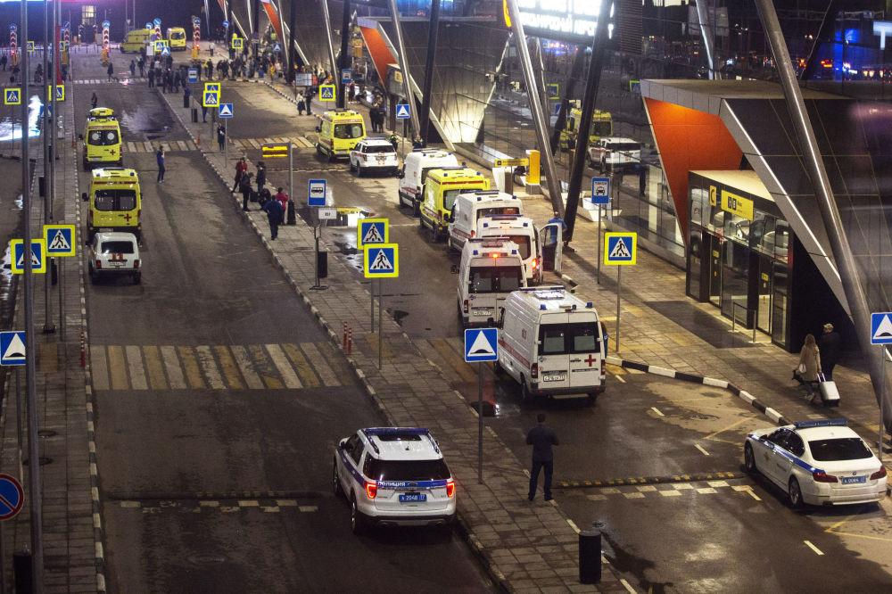 谢列梅捷沃机场的急救车