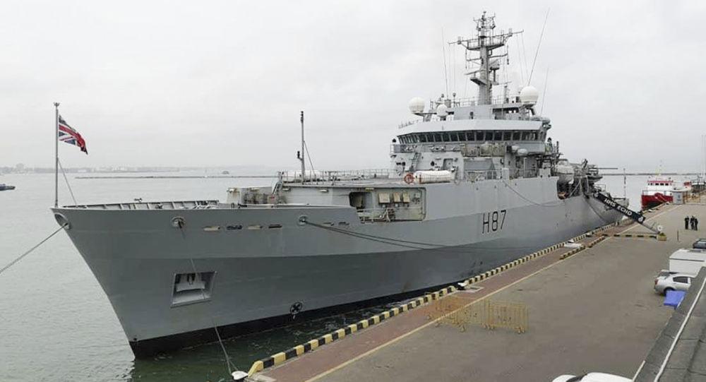 英國軍艦進入敖德薩港口