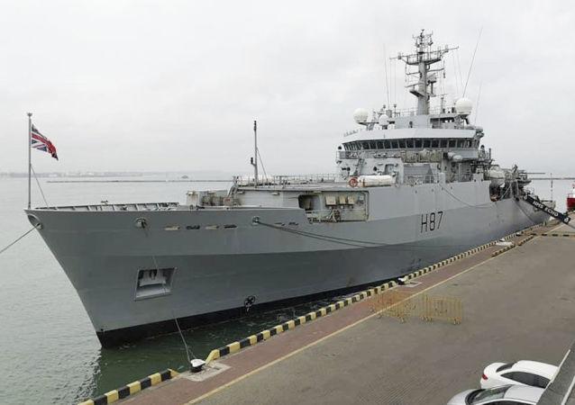 英国军舰进入敖德萨港口