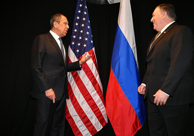 俄外长拉夫罗夫与美国国务卿蓬佩奥