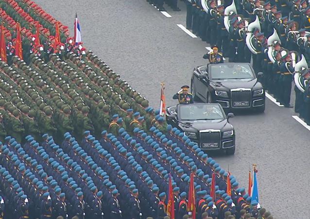 红场上举行伟大卫国战争胜利74周年阅兵式