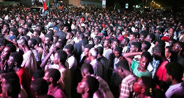 蘇丹首都喀土穆的集會(資料圖片)