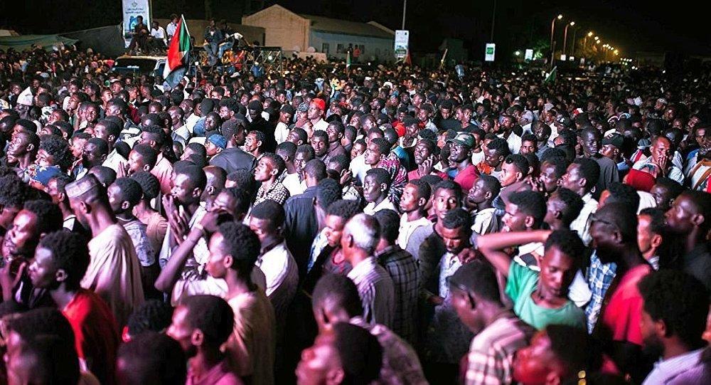 苏丹首都喀土穆的集会(资料图片)