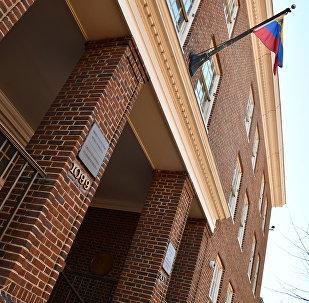 美国警方离开委内瑞拉大使馆 马杜罗的支持者仍留在大使馆内