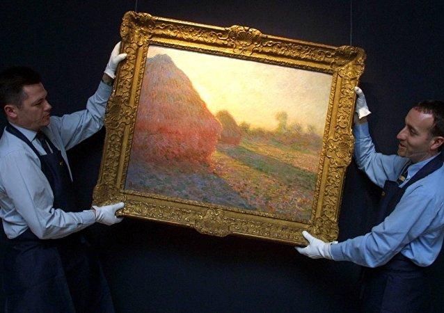 莫奈畫作《乾草堆》在蘇富比拍出1.1億美元天價