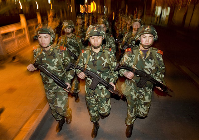 Chinese People's Armed Police officers