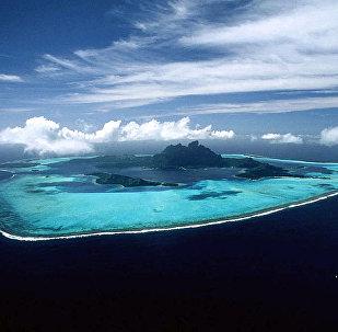 南海的黄岩岛(斯卡伯勒礁)