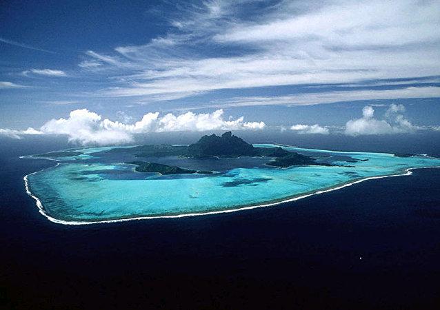 南海的黃岩島(斯卡伯勒礁)