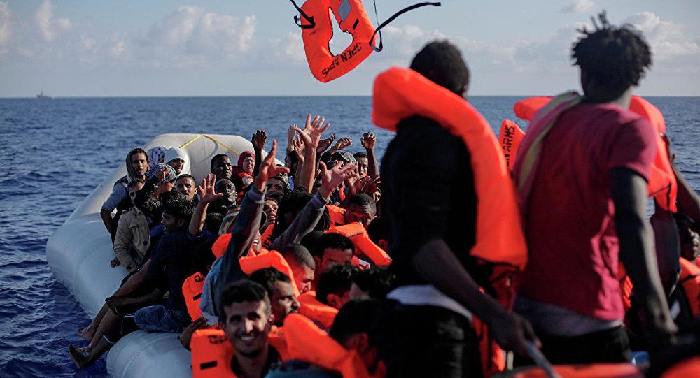 非法移民在地中海(資料圖片)