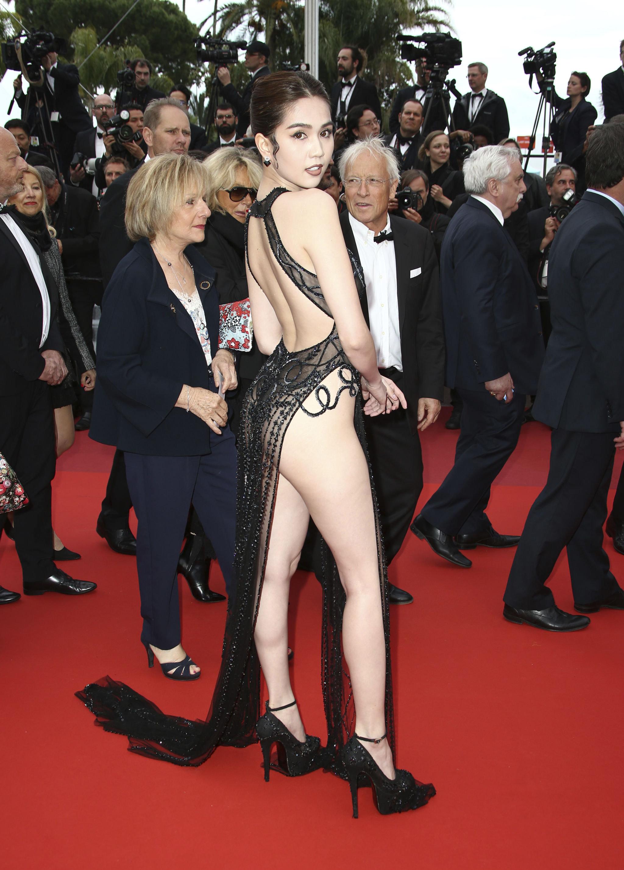 越南模特邓玉贞在戛纳国际电影节上